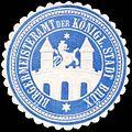 Siegelmarke Bürgermeisteramt der Königl. Stadt Brüx W0319573.jpg