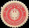 Siegelmarke Delegierter des Kaiserlichen Kommissars und Militär - Inspekteurs der Freiwilligen Krankenpflege W0211349.jpg