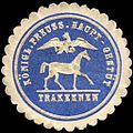 Siegelmarke Königlich Preussisches Haupt - Gestüt Trakehnen W0221148.jpg