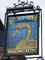 Sign for the Golden Swan - geograph.org.uk - 1429554.jpg