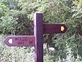 Sign for the Wolds Way - geograph.org.uk - 500684.jpg