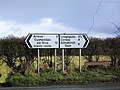 Signs at Magherahoney - geograph.org.uk - 1728264.jpg