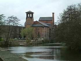 The Silk Mill, le moulin à soie de Derby, au bord de la Derwent