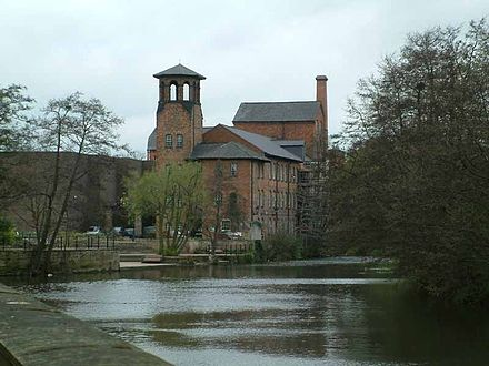 Lombe's Mill site today, rebuilt as Derby Silk Mill Silkmill1.jpg