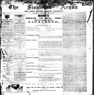 The Singleton Argus - Singleton Argus and Upper Hunter General Advocate, 15 July 1874