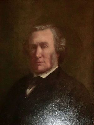"""Sir Benjamin Collins Brodie, 2nd Baronet - Portrait, initialled and dated: """"E.A. 1874"""""""