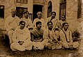 Sir JC Bose with his pupils at Bose Institute in 1928.jpg
