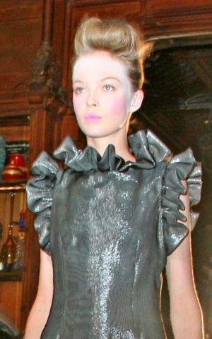 Siri Tollerød - Tollerød modeling in Ruffian spring 2008 show, New York Fashion Week, 8 September 2007