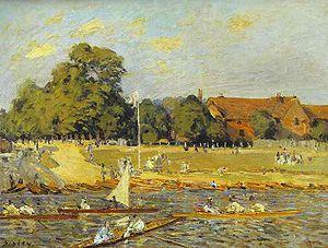 Hampton Court and Dittons Regatta - Alfred Sisley Regatta at Hampton Court 1874