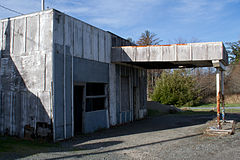 Former gas station in Sixes