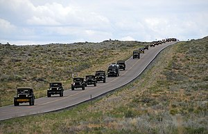 Transcontinental Motor Convoy - The 2009 Convoy traveling down the Lincoln Highway.