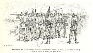 Siege of Yorktown (1862) - The skirmish near Dam Number One