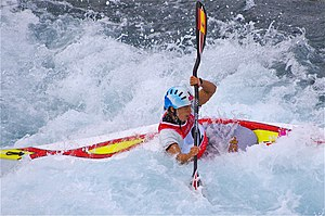 Slalom canoeing 2012 Olympics W K1 ESP Maialen Chourraut (2).jpg
