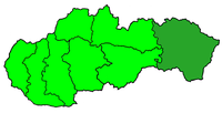Poloha arcidiecéze košické v rámci Slovenska