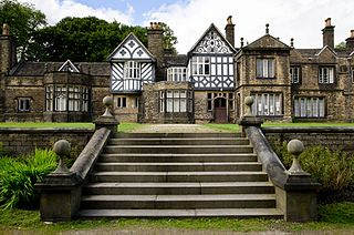 Smithills Hall country house in Bolton, Greater Manchester, UK