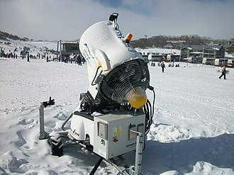 Smiggin Holes, New South Wales - A snow making machine at Smiggin Holes.