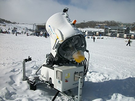Snowmaking machine at Smiggin Holes, New South Wales. Snow making machine.jpg