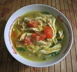 Soto (food) - Image: Soto Ayam home made
