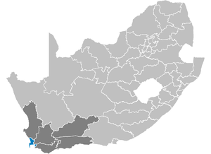 District Kaapstad in Zuid-Afrika