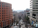 Southwest Corridor viewed from Back Bay station garage, March 2015.JPG