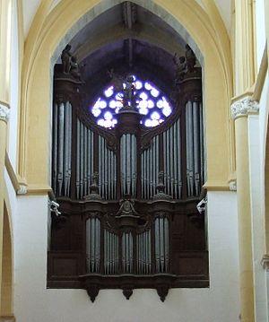 Jean-Luc Perrot - Image: Souvigny orgue historique Clicquot (1783)