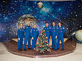 Soyuz TMA-07M prime and backup crews at the Korolev Museum 2.jpg