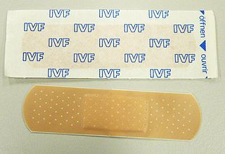 Adhesive bandage a small self-adhesive medical dressing used for injuries not serious enough to require a full-size bandage