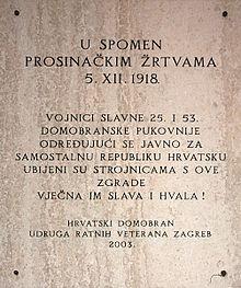 Prosinacke Zrtve 5 Prosinca 1918 Wikipedija