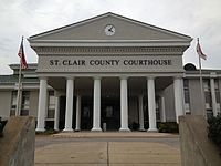 St. Clair County Courthouse in Pell City, Alabama.JPG