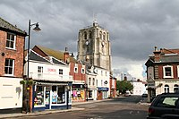 St. Michael's Church, Beccles, Suffolk, South and east faces of the tower - geograph.org.uk - 219880.jpg