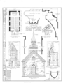 St. Peter's Episcopal Church, Rock and Main Streets, Grand Detour, Ogle County, IL HABS ILL,71-GRAD,1- (sheet 1 of 1).png