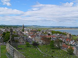 St Andrews, visto a partir do topo da torre de St Rule