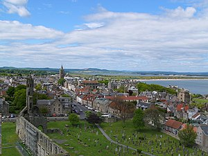St Andrews - Image: St Andrews from Regulus tower geograph.org.uk 254003