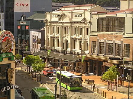 St. James Theatre on Courtenay Place, the main street of Wellington's entertainment district St James Theatre.jpg