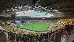 Brazil v Germany (2014 FIFA World Cup) - Scene inside Estádio Mineirão, twenty minutes before the start of the match