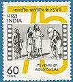 Stamp of India - 1989 - Colnect 165303 - Scene from film - Raja Harishchandra.jpeg