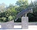Statue Friedenstr ggü 16 (Friedh) Deutsche Interbrigadisten.jpg