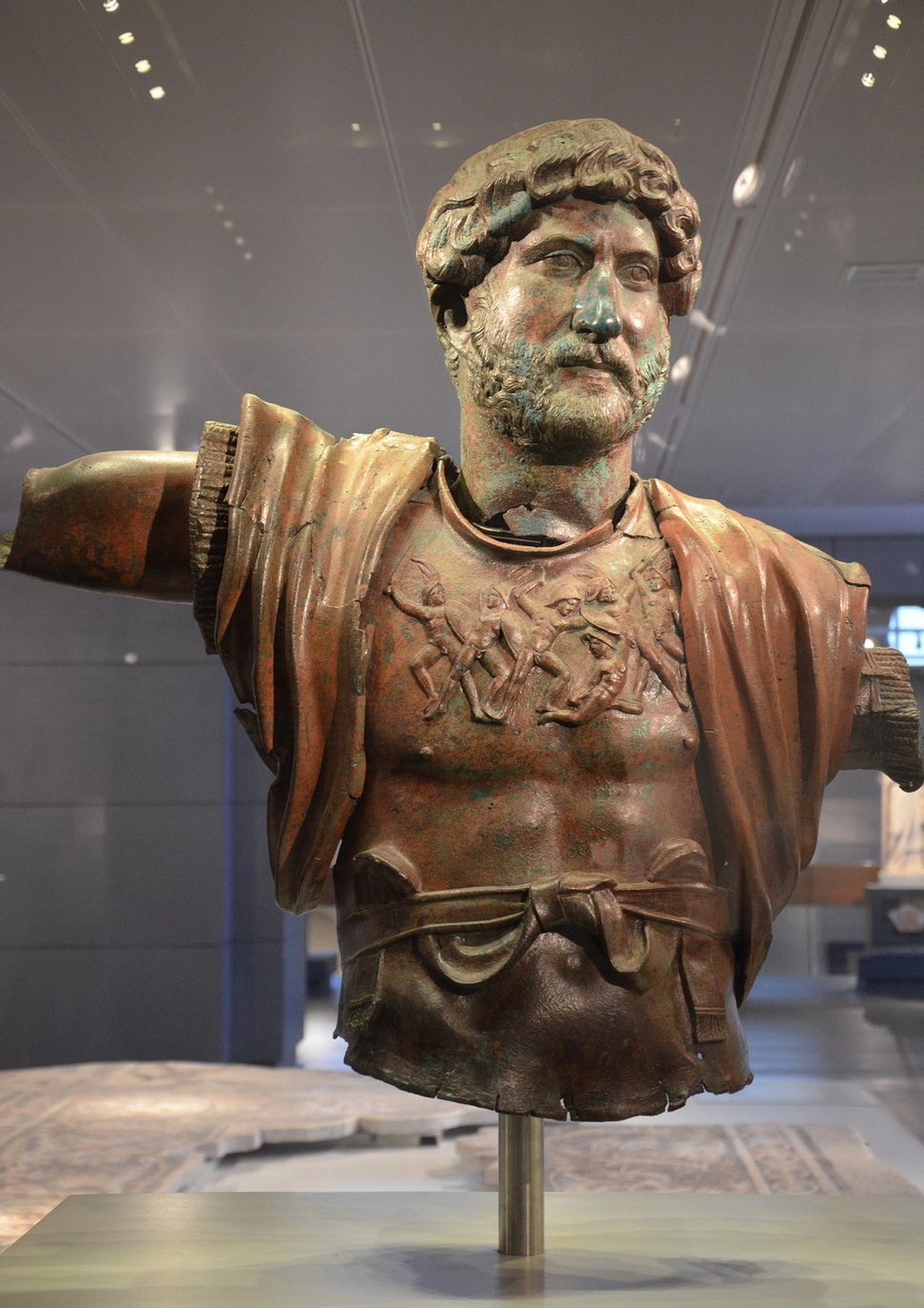 Statue of Hadrian from Tel Shalem