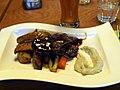 Steak au poivre at restaurant Teini in Turku.jpg