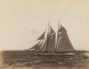 Coronet (yacht) - Coronet in race, 1893
