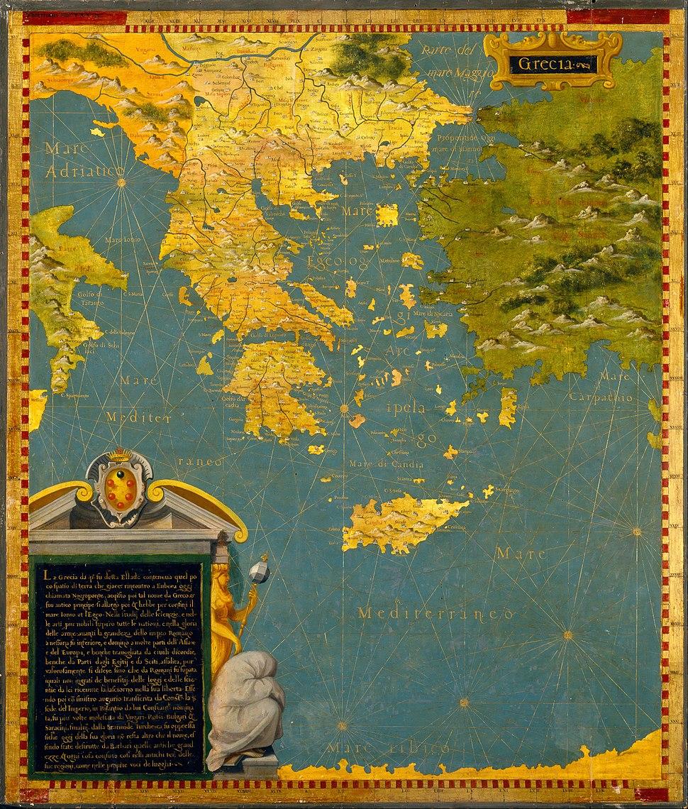 Stefano Bonsignori - Hellenic peninsula- Greece, Albania, Bosnia and Bulgaria - Google Art Project