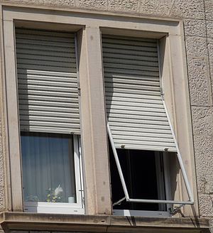 Roller shutter - Roller shutters on windows.