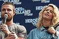 Stephen Amell and Emily Bett Rickards HVFFLondon2017Amell-ALS-17 (35146423832).jpg