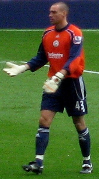 Stephen Bywater - Bywater playing for Derby County in 2007
