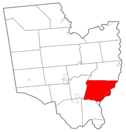 Location of Stillwater within Saratoga County