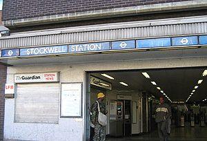 Death of Jean Charles de Menezes - Stockwell tube station entrance