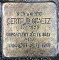 Stolperstein Bayerische Str 5 (Wilmd) Gertrud Graetz.jpg