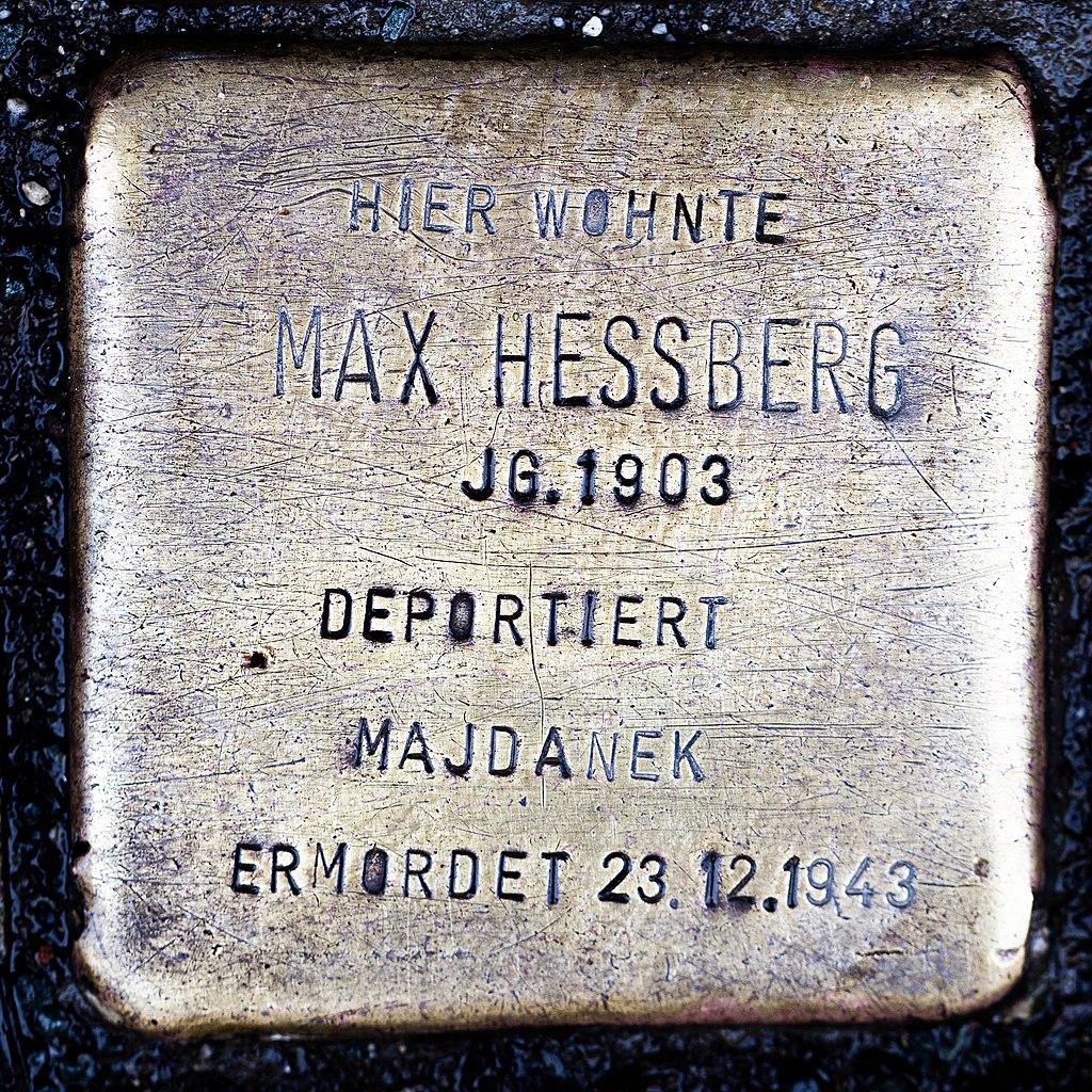Stolperstein CC Max Hessberg 1903-1943.jpg