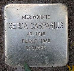 Photo of Gerda Casparius brass plaque