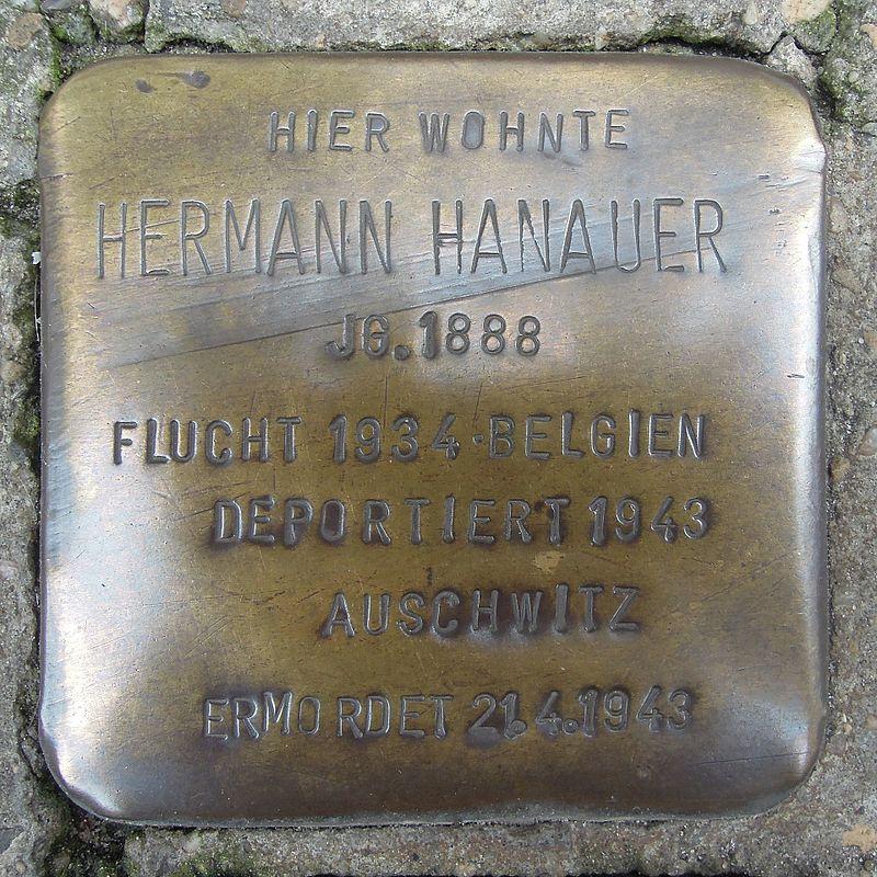 Stolperstein Lingen Gymnasialstraße 1 Hermann Hanauer.jpg